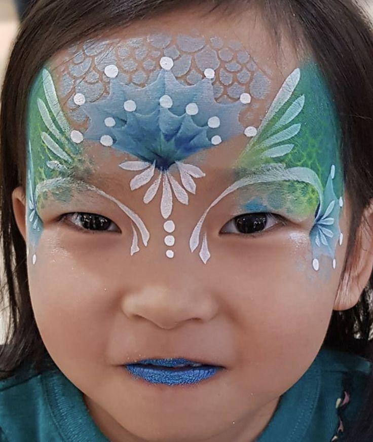 Mermaid   Mermaid face paint, Face painting designs, Face ...