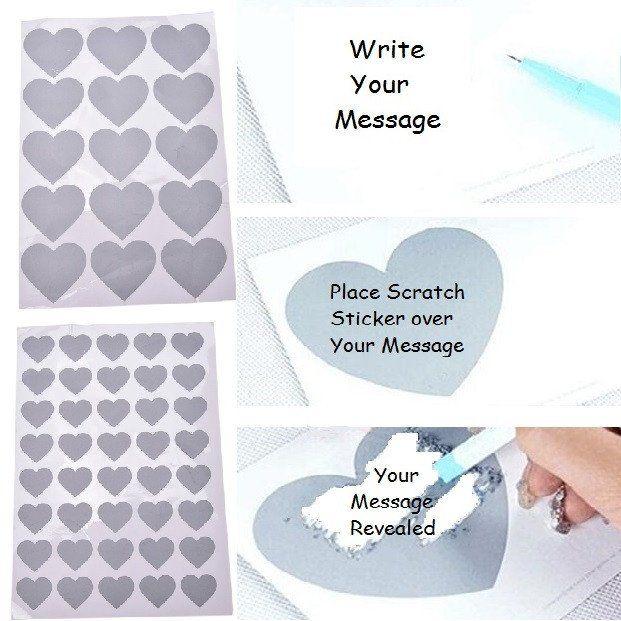 Scratch N Reveal Stickers - Scratch Off Message