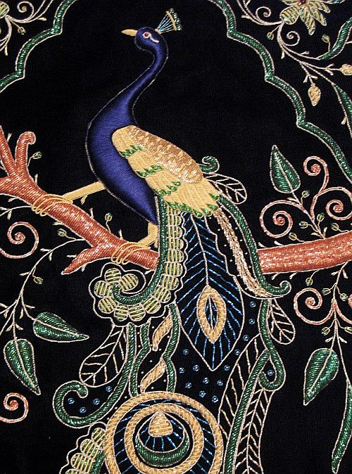 Peacock Jewel carpet (tapestry) from Agra