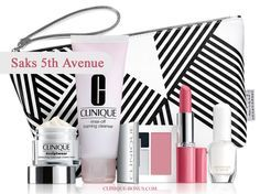 Clinique GWP @ Saks - a 6-pc gift free with any $35 spend. Use promo code: CLINIQ74. Spend more ($55) and choose your Moisture Surge deluxe travel-size.