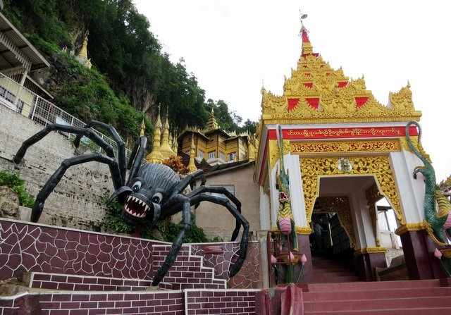 #Myanmar - Spiders, Princesses and too many stairs : Around the Pindaya Cave temple