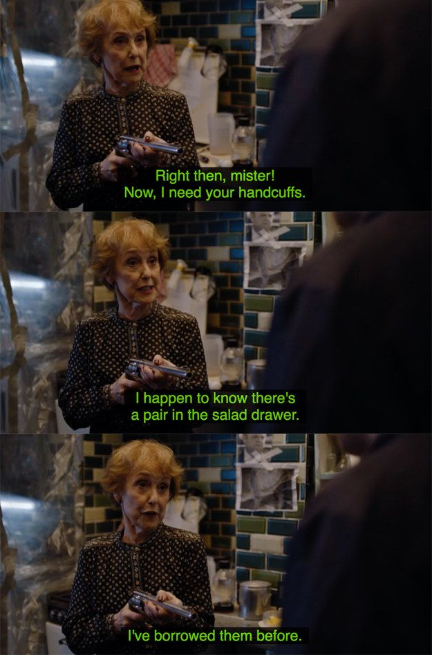 """And let's not forget, Mrs Hudson KICKED ASS. 