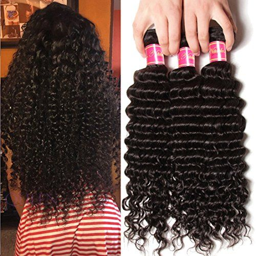 Nadula 7A Grade Brazilian Virgin Wavy Deep Wave 3 Bundles Cheap Human Hair Products 95100gpcs Remy Weave Extensions Natural Color 12 14 16inch * Continue to the product at the affiliate link Amazon.com.