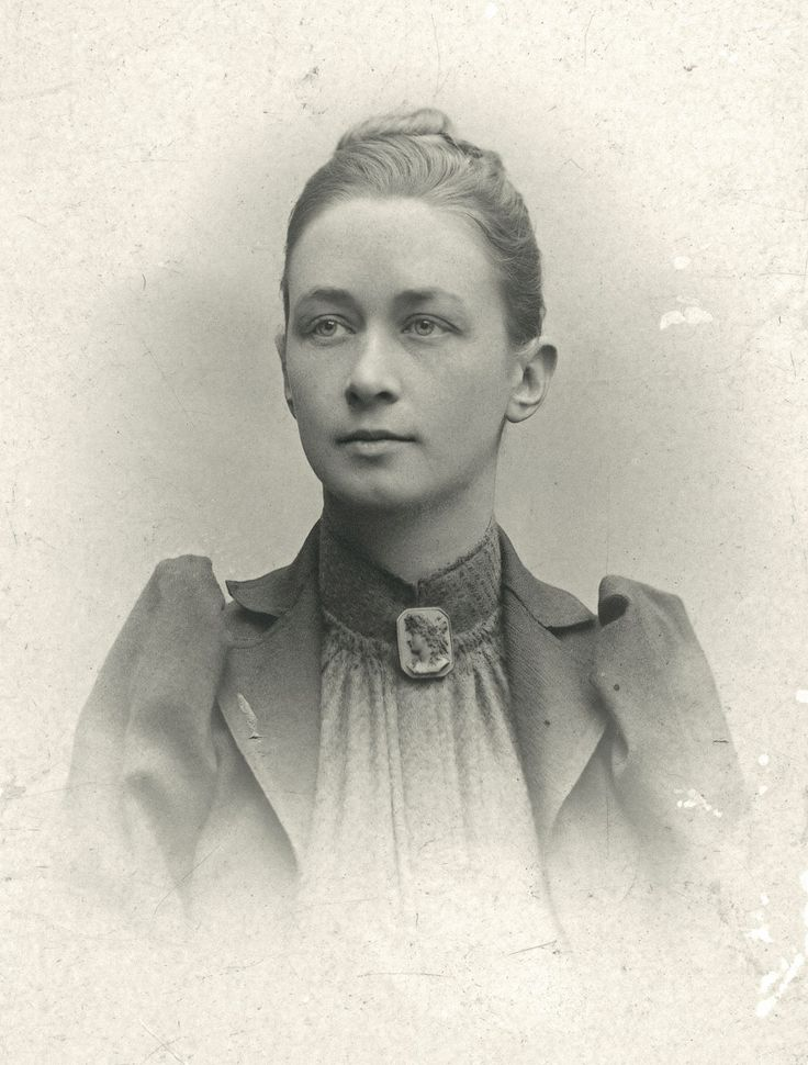 Portrait of Hilma af Klint.  Revolutionary artist and abstractionist; the first purely abstract painter to produced non-objective works in the early 1900's.