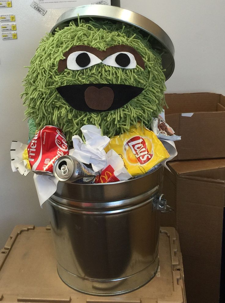 Oscar the grouch no carve pumpkin halloween pinterest