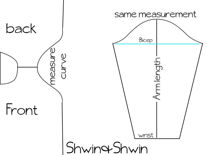How To add sleeves to any pattern || Shwin&Shwin