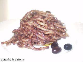 Spizzica in Salento...: Pâtes au Pesto D'Olives Noires