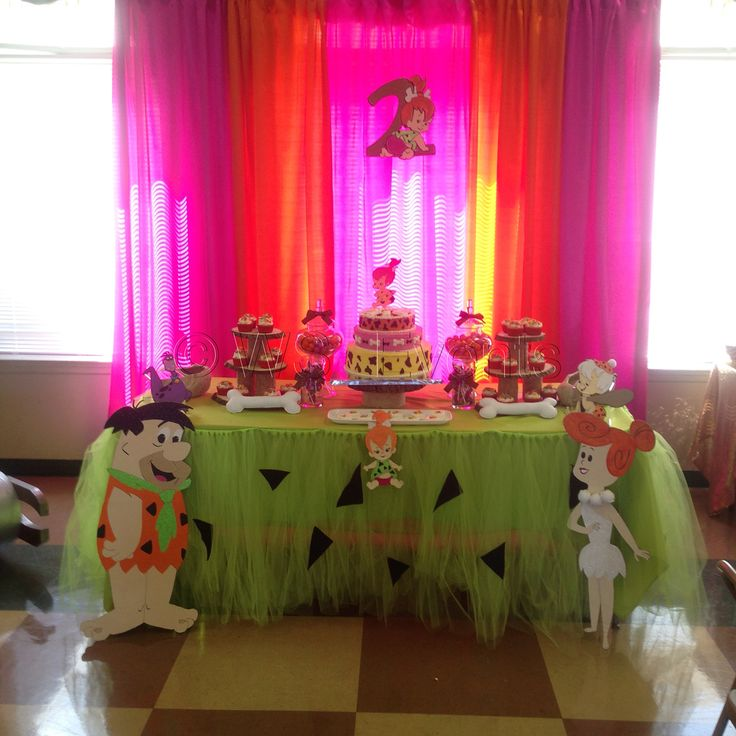 Pebbles and the Flintstones birthday party by WS Events