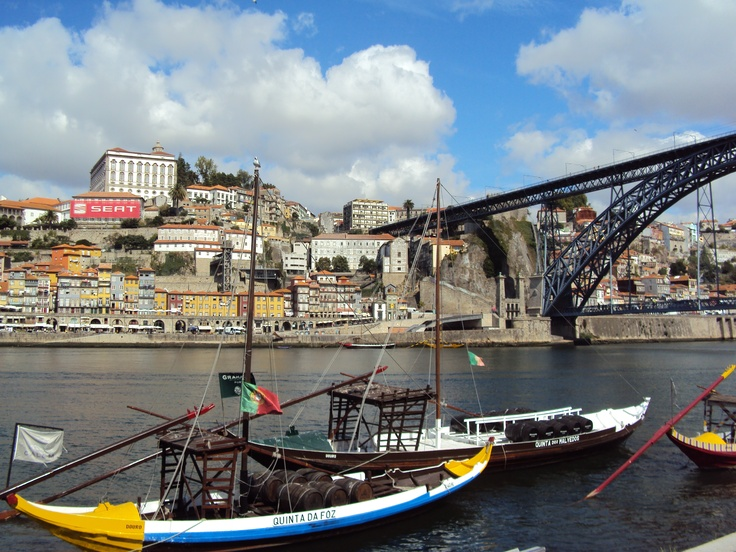 Lunch in the sun and views across the Douro river....