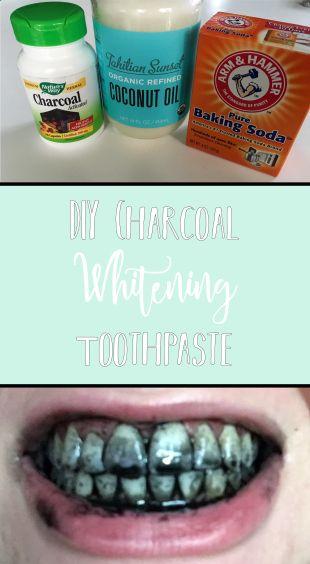 DIY Charcoal Whitening Toothpaste   Lauren's Notebook