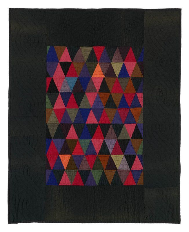 "Triangles crib quilt from the collection of Faith and Stephen Brown (""Amish Abstractions"")"