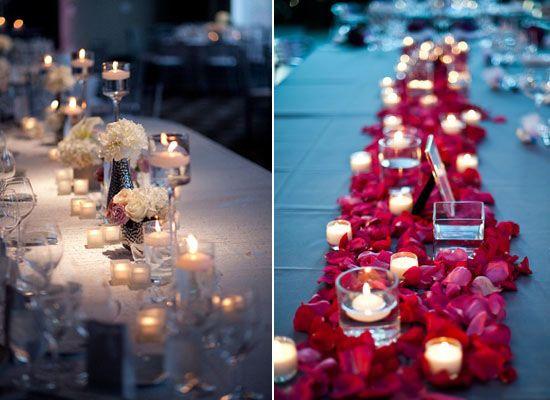 01 Schwimmkerzen kerze hochzeit tisch hochzeitsdeko hochzeitsdekorationen ideen rosa Hochzeit Deko Idee – Lichthochzeit mit Kerzen oder Lampen