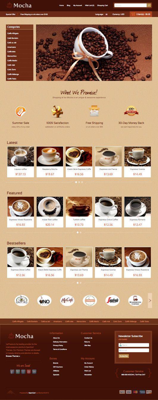 Ice Mocha OpenCart Coffee Shop Theme