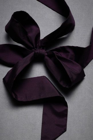 Dark purple silk sash