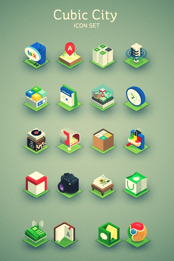 Icons, 3d