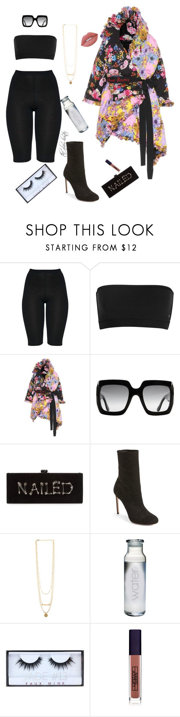 """""""Hurry Up"""" by theglamhunter on Polyvore featuring Preen, Gucci, Edie Parker, Francesco Russo, Susquehanna Glass, Huda Beauty, Lipstick Queen and Lime Crime"""