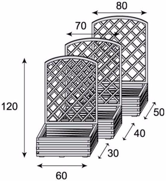 402 Drewniana Donica z kratką CLASSIC Łuk h120 cm – Malbork – 164675595 | Gumtree