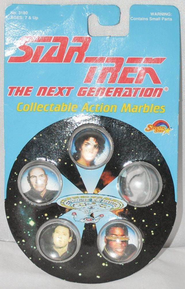 Star Trek: The Next Generation Collectable Action Marbles by Spectra Star from 1993, New, Old Stock