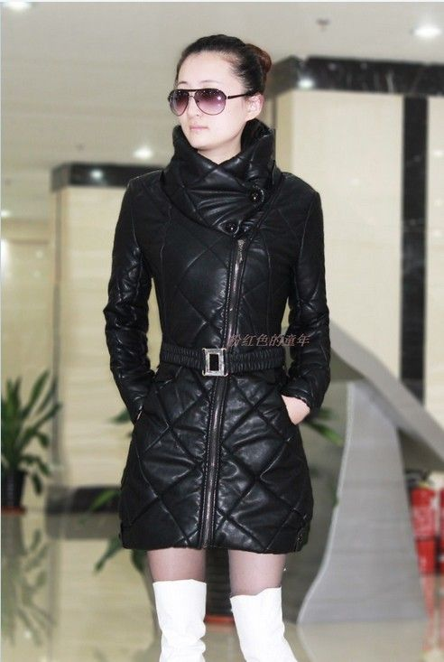 Фото кожаных женских зимних платьев