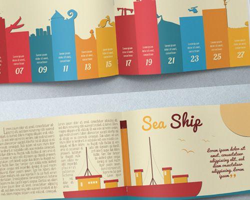 Best print design illustration brochure