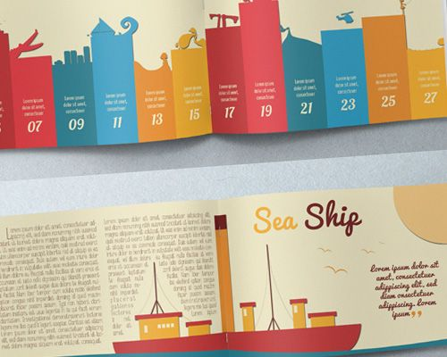 Best print design illustration brochure