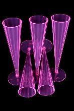 Lot de 10 coupes champagne rose fluo UV 15cl