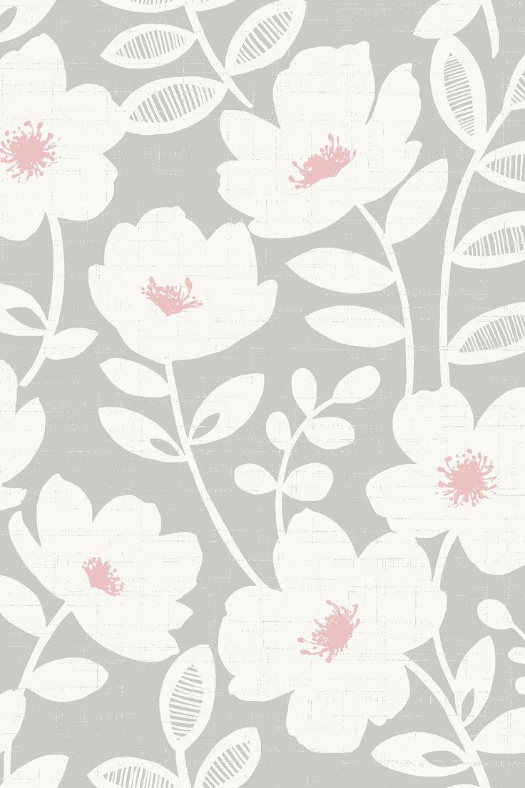 اشتر ورق حائط Scandi Flower من Urban Walls من Next السعودية Flower Wallpaper Wallpaper Paint Colors