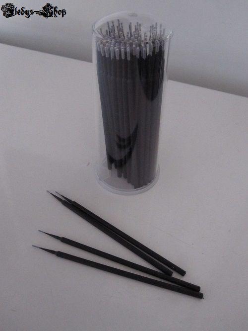 100 Teile Wimpern Verlängerung Hilfe Micro Brushes Mikrobürste 1,2 mm