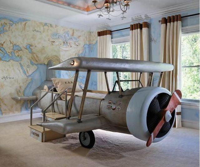 25 beste idee n over jongens vliegtuig slaapkamer op pinterest vliegtuig kamer vintage - De kamer van de jongen ...