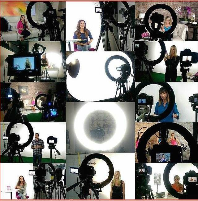The best single source beauty lighting for bloggers, vloggers, youtubers, makeup artists, stylists, online marketers, network marketers from Stellar Diva Ring Lights! It's what I use on all the shoots I work on and my personal videos too!
