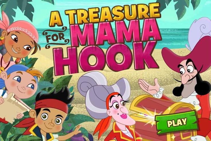 A Treasure For Mama Hook Disney junior, Pirate games