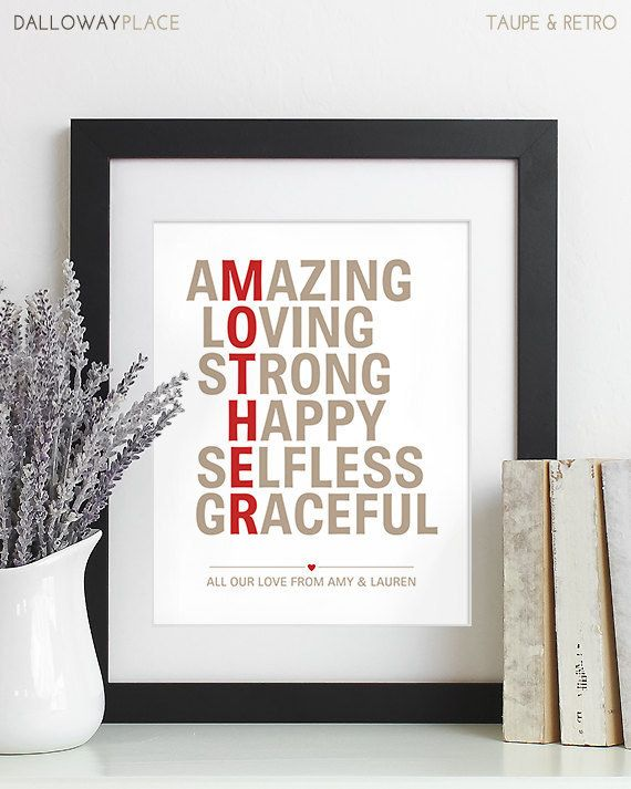 Give her a beautiful poster to hang up with your own custom message. | 13 Things Your Mom Actually Wants For Mother's Day