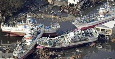 La mar salada: Tsunami sobre Japón... imágenes impactantes de barcos