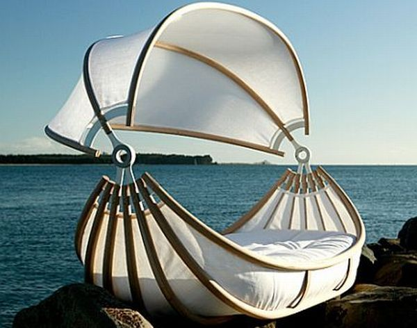 Contemporary canopy beds : Hometone; a floating bed? cool!