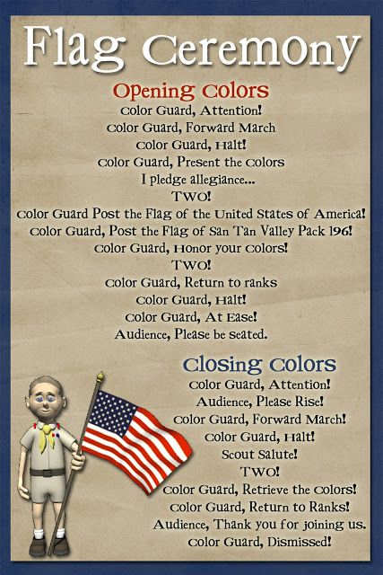 script for closing ceremony Flag ceremony a flag ceremony • opening or closing meetings • opening or closing special events microsoft word - flag ceremony guide author: jderes.