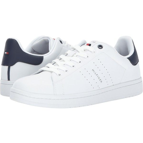 1dabdac7544cd Tommy Hilfiger Lodus (White) Men s Shoes ( 40) ❤ liked on Polyvore featuring