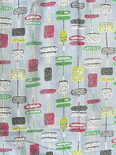 Wonderfull design and colour,original Vintage /Retro 1950's fabric / curtain