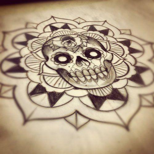 Skull mandala design