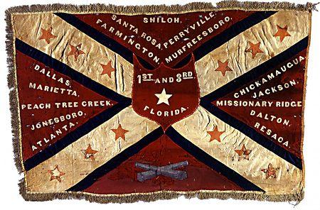 Florida Infantry battle flag. Florida C W militaria is very rare