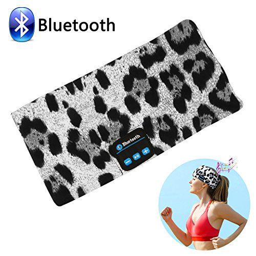 Bluetooth Wireless Headband Headsets, LC-dolida Bluetooth Music Sleep Headphones Sports Headbands Built-In Speakers Microphone for Workout, Crossfit, Running, Yoga, Leopard-Gray  https://topcellulardeals.com/product/bluetooth-wireless-headband-headsets-lc-dolida-bluetooth-music-sleep-headphones-sports-headbands-built-in-speakers-microphone-for-workout-crossfit-running-yoga-leopard-gray/  【Headband and Eye Mask 2 in 1】 Bluetooth Headband allows you to listen to your music