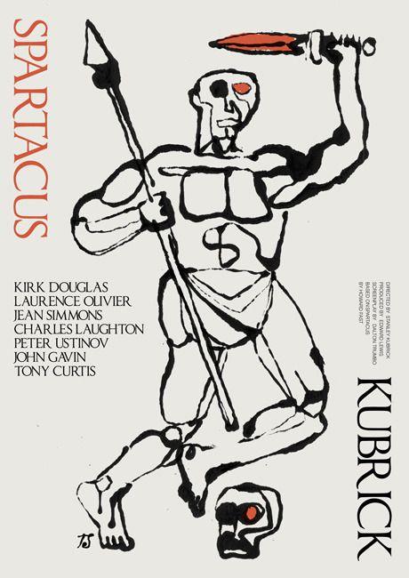 "antoniostella:  ""Poster for ""Spartacus"" - 1960 by Stanley Kubrick.  """