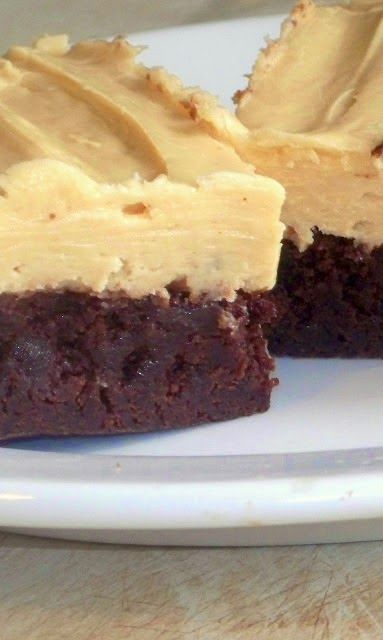 Buttermilk Brownies With Peanut Butter Cream Cheese Icing - They are chewy, fudgy, rich and delicious..