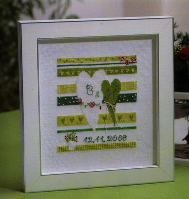 scandinavian stitches - wedding - cross stitch, just ordered the chart. Will probably change the colours