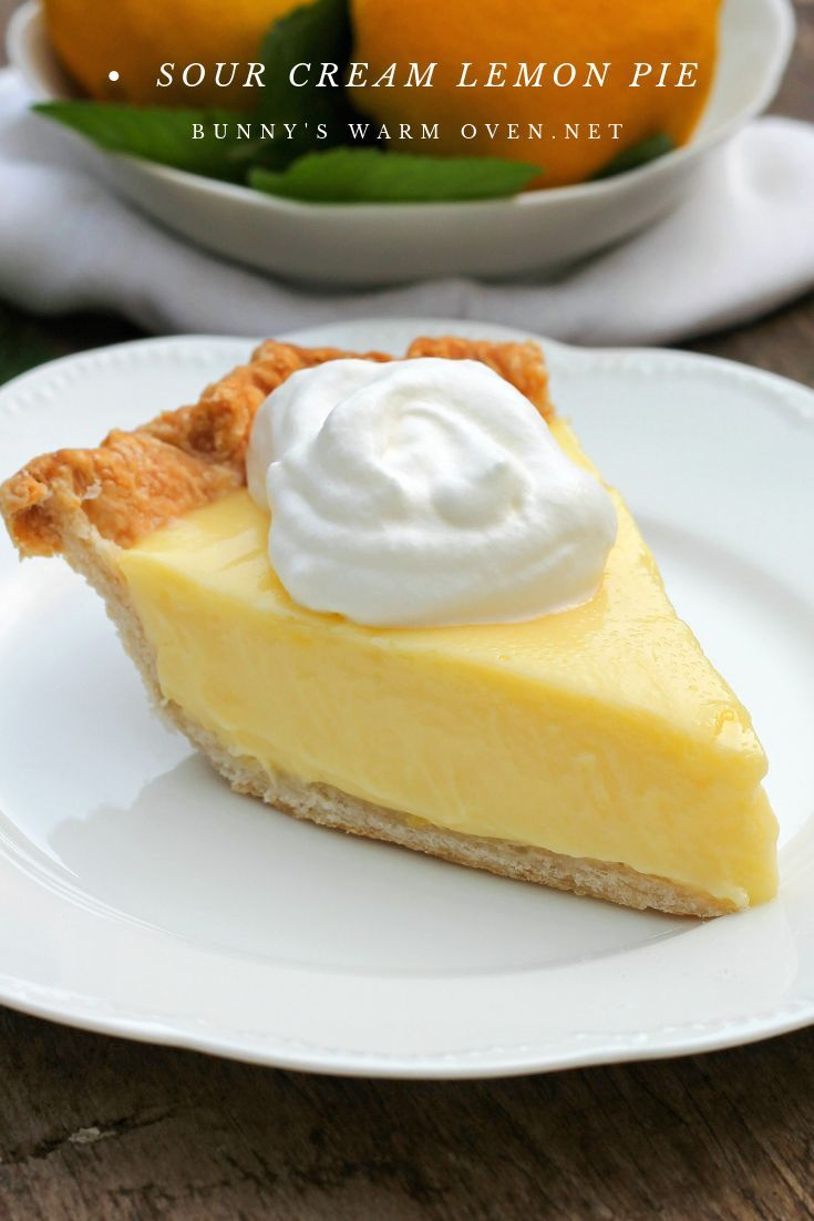 Sour Cream Lemon Pie Magnificent Smooth Creamy Light And Refreshing Pie Lemon Lemon Sour Cream Pie Cream Pie Recipes Sweet Pie