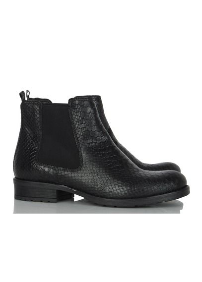 Boots cuir Noir by LA FEE MARABOUTEE