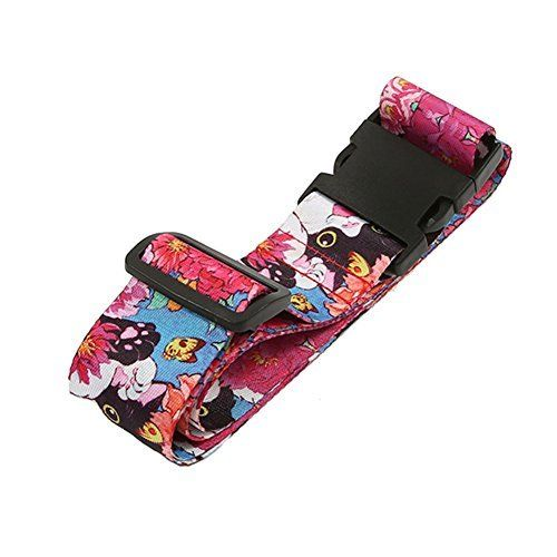 $5.80 (40% Off) on LootHoot.com - Colorpole Premium Luggage Strap Suitcase Belt Adjustable Lock 68' Inch (Oriental Cat)