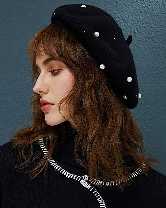 d45580aceec3b YI HENG MEI Women s Winter Warm Classic Faux Rabbit Fur Berets Hat Artist  Cap