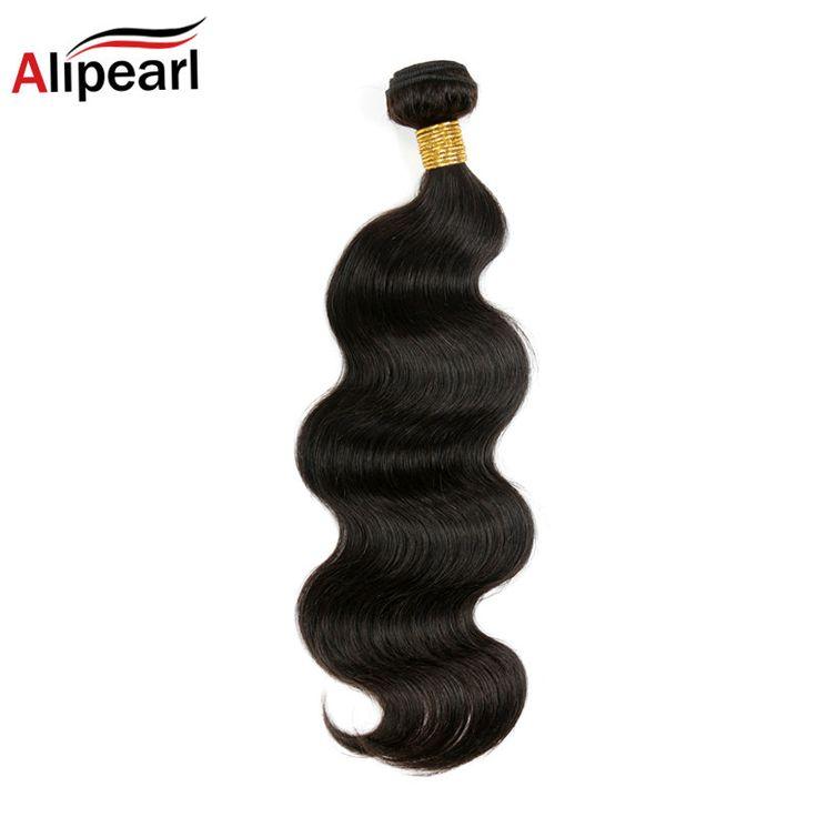 Ali Pearl Hair 8A Peruvian Virgin Hair Body Wave 1 Piece Unprocessed Virgin Human Hair Weave Bundles 30 32 34 36 38 40 inches