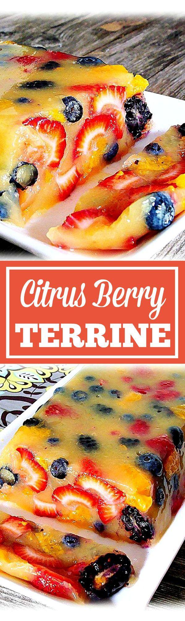 Citrus-Berry Terrine - Easy, healthy, beautiful summertime dessert.