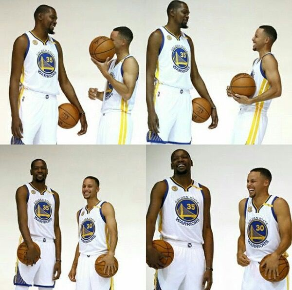 KD and Stephen Curry Gsw fam